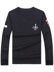 Long Sleeve Anchor Print Tee