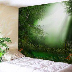 Dreamlike Forest Print Fabric Throw Wall Tapestry -