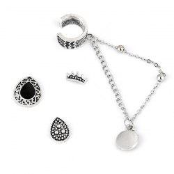 4 Pieces Gothic Style Stud Earrings