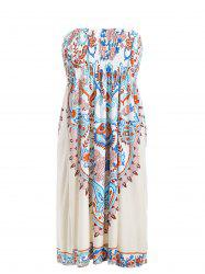 Boho Strapless A Line Dress