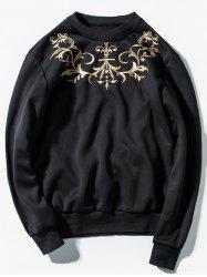 Pullover Embroidery Sweatshirt