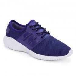 Color Block Sports Breathable Sneakers - PURPLE