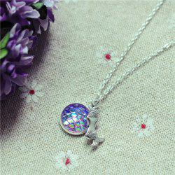 Sparkly Mermaid Scales Pendant Necklace