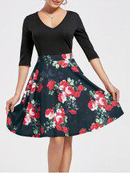 High Waist Printed Dress