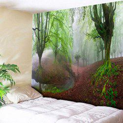Forest Print Wall Hanging Decorated Tapestry -