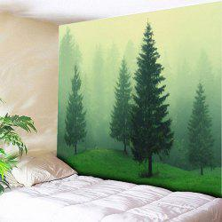 Fog Forest Print Tapestry Wall Hanging -