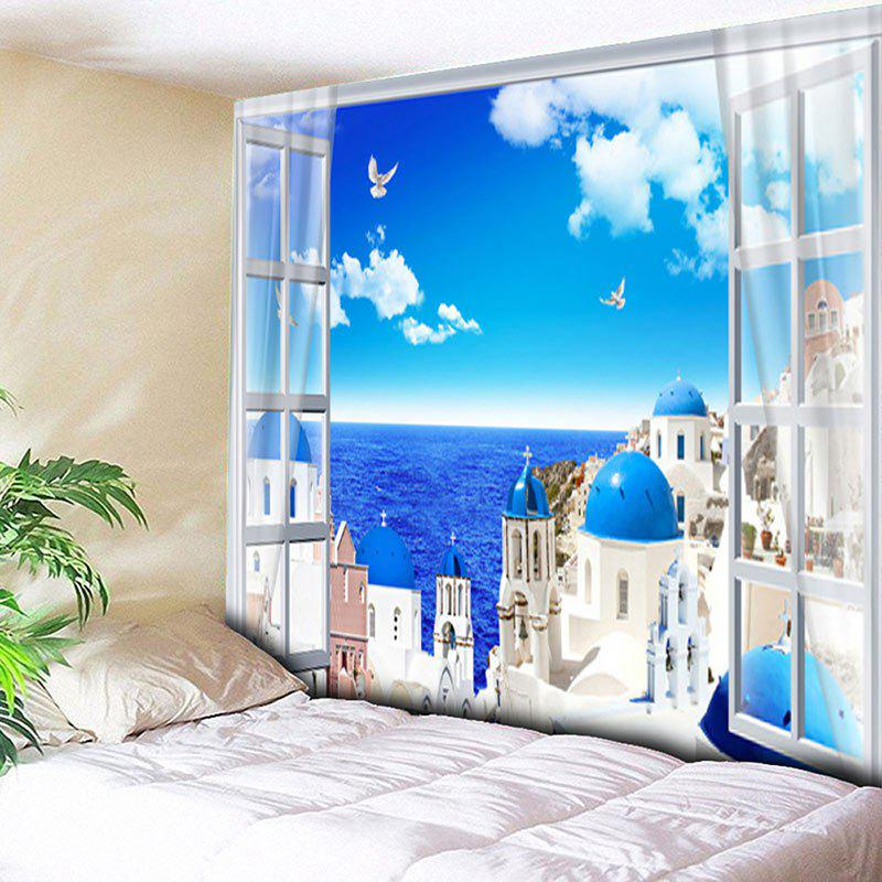 Wall Hanging Seaside Castle Print Tapestry
