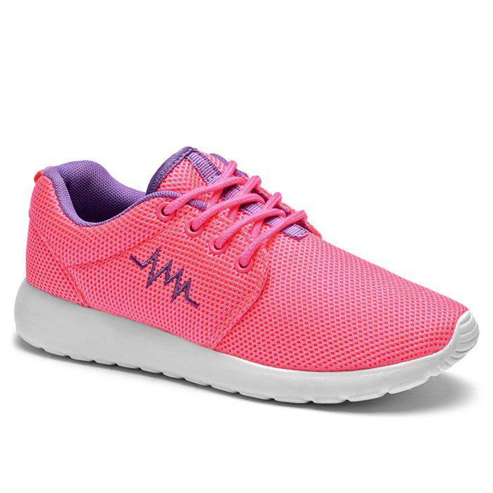 Fashion Breathable Embroidery Line Athletic Shoes