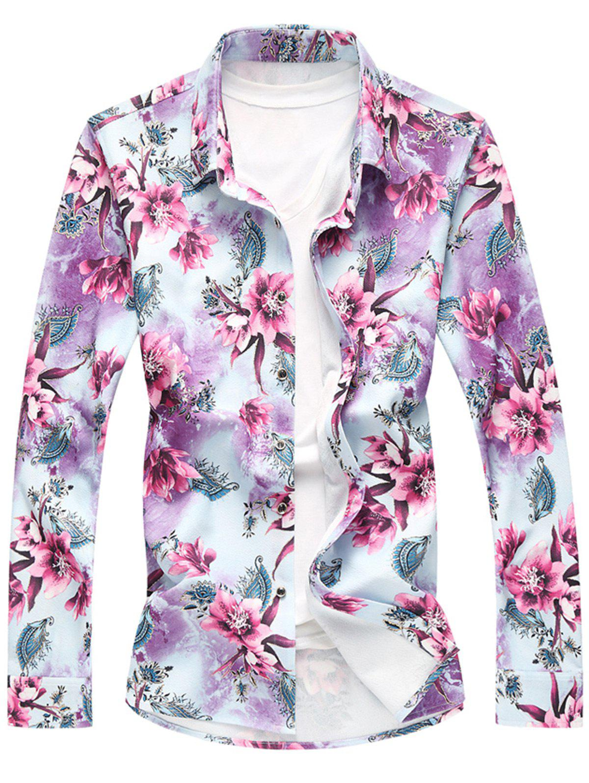Shop Long Sleeve Plus Size Floral Shirt