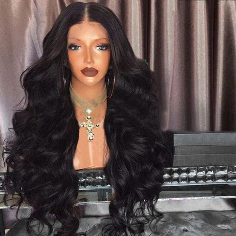 Unique Middle Part Fluffy Long Loose Wave Synthetic Wig