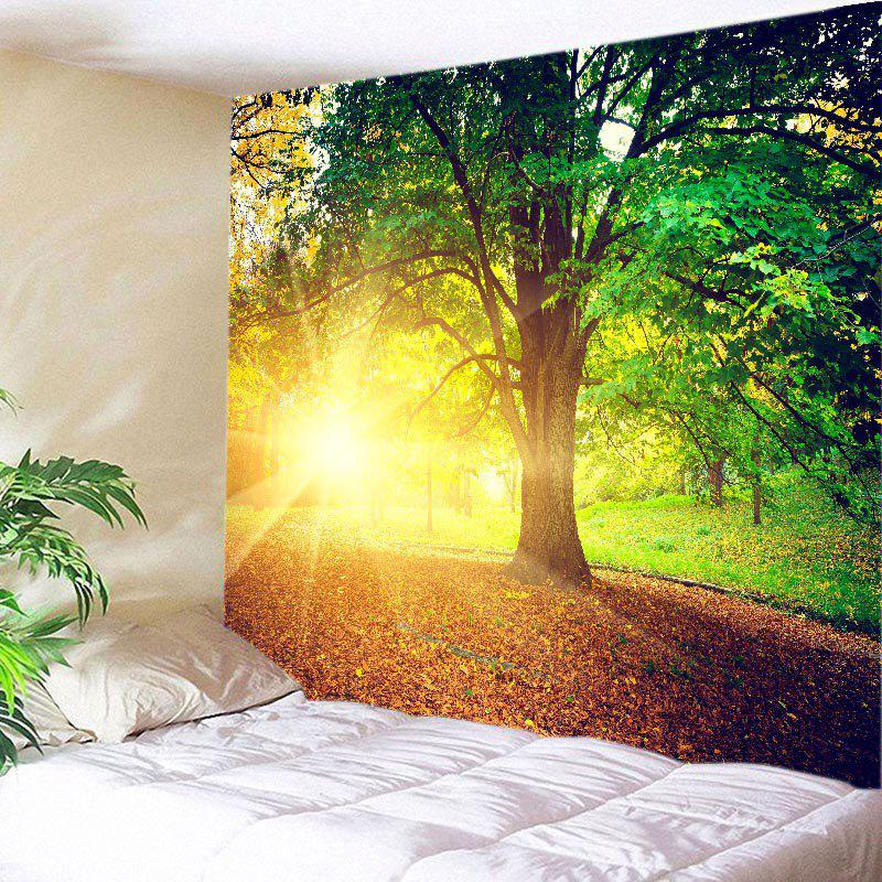 Green W79 Inch * L59 Inch Sunshine Tree Print Tapestry Wall Hanging ...