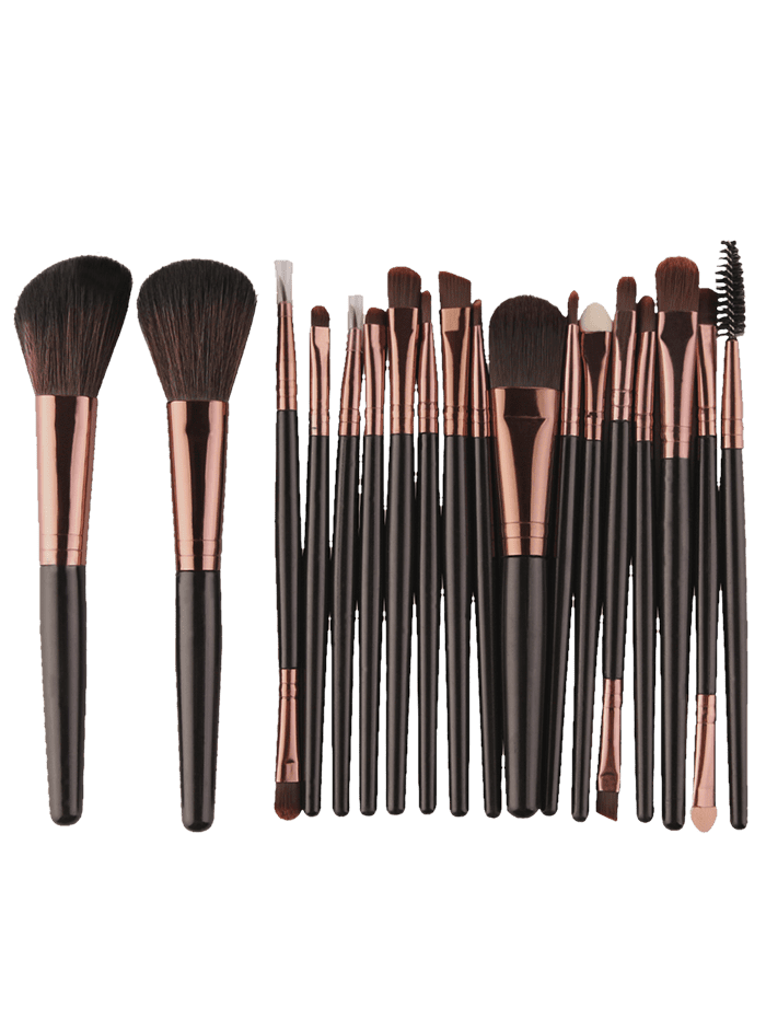 18Pcs Face Eye Multipurpose Makeup Brushes KitBEAUTY<br><br>Color: BLACK BROWN; Category: Makeup Brushes Set; Brush Hair Material: Synthetic Hair; Features: Professional; Season: Fall,Spring,Summer,Winter; Weight: 0.1300kg; Package Contents: 18 x Brushes(Pcs);