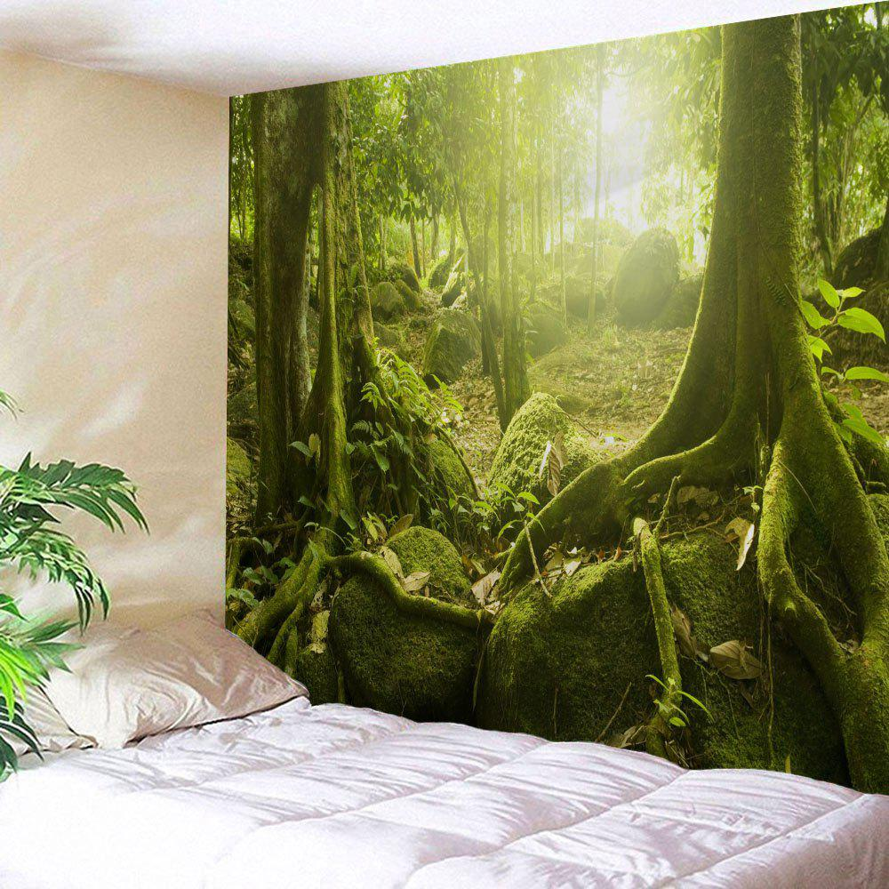 Best Polyester Fabric Sunlight Forest Print Wall Tapestry