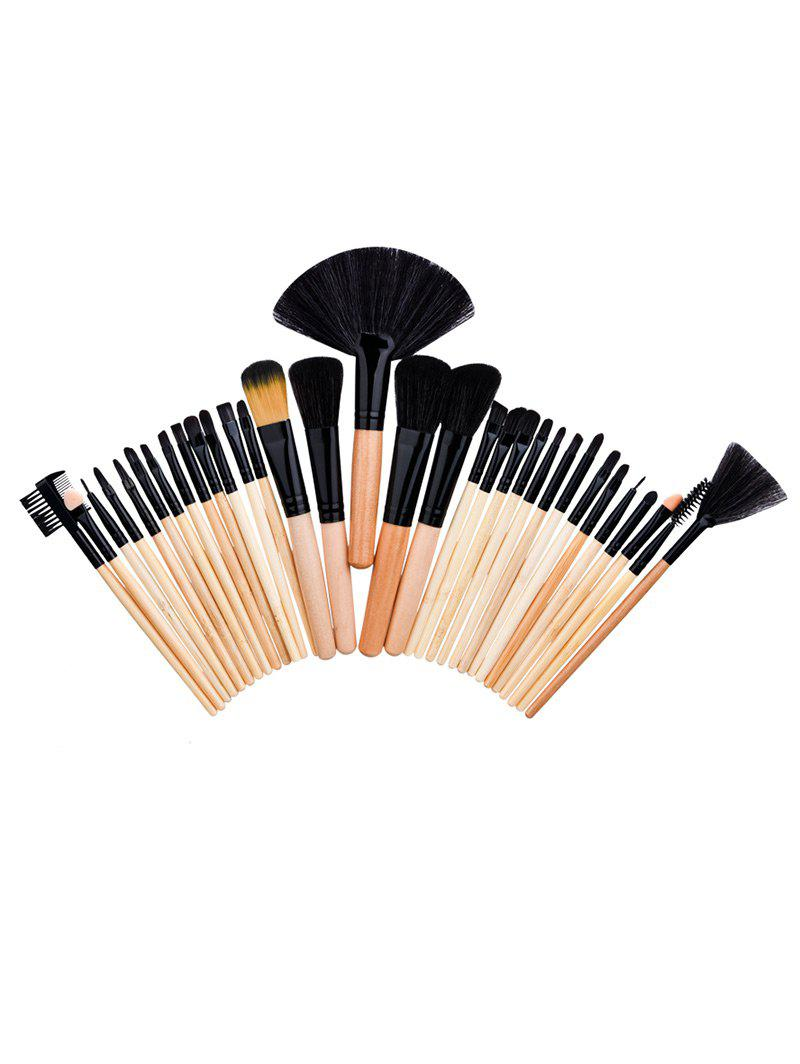 32Pcs Aluminum Tube Beauty Makeup Brushes SetBEAUTY<br><br>Color: WOOD; Category: Makeup Brushes Set; Brush Hair Material: Nylon; Features: Limits Bacteria; Season: Fall,Spring,Summer,Winter; Weight: 0.1600kg; Package Contents: 32 x Brushes ( Pcs );