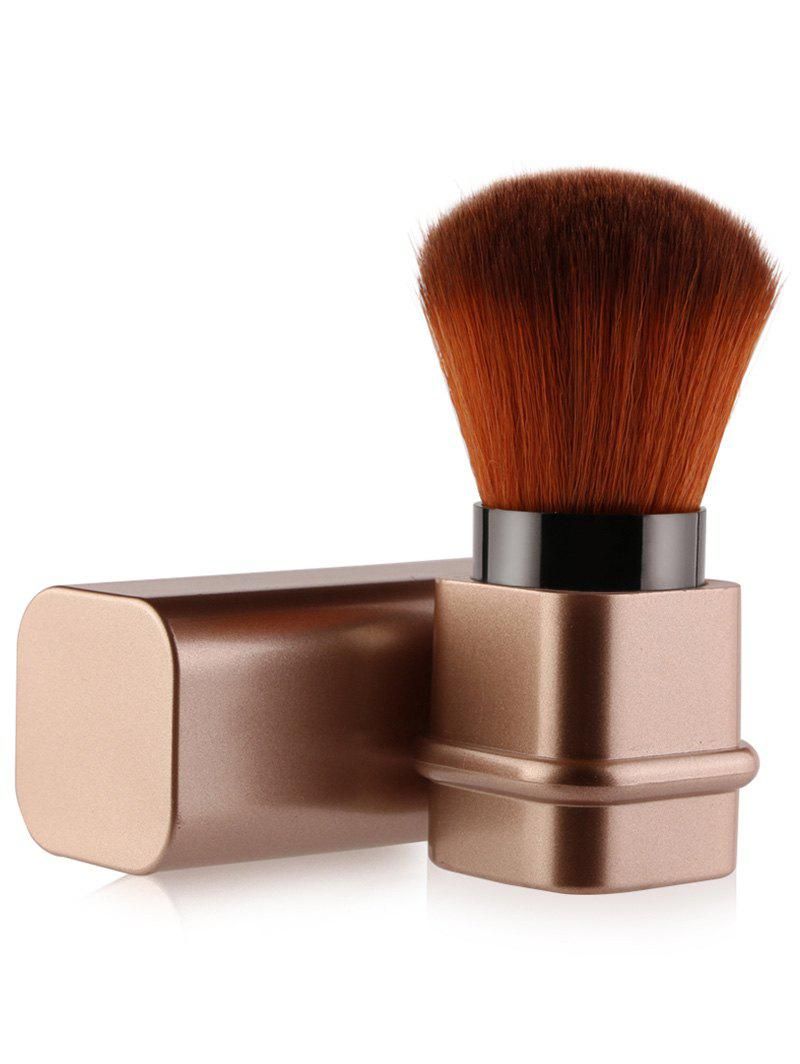 Square Telescopic Tube Blush BrushBEAUTY<br><br>Color: ROSE GOLD; Category: Blush Brush; Brush Hair Material: Synthetic Hair; Features: Professional; Season: Fall,Spring,Summer,Winter; Weight: 0.0576kg; Package Contents: 1 x Brush;