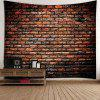 Natural Stone Brick Print Waterproof Tapestry -