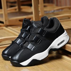 Air Cushion Mesh Breathable Athletic Shoes - BLACK 40