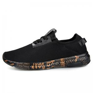 Letter Print Sole Mesh Athletic Shoes -