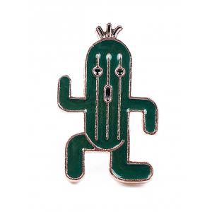 Brooch Set with Skull Ice Cream Cactus -