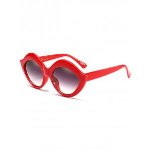 Street Snap Lip Shape Anti UV Sunglasses