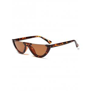 Street Snap Semilunar Semi-Rimless Sunglasses
