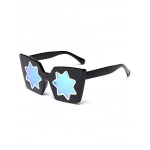 Mirrored Reflective Geometric Star Frame Sunglasses