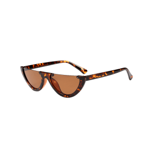 Street Snap Semilunar Semi-Rimless Sunglasses -