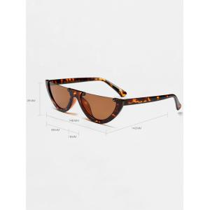 Street Snap Semilunar Semi-Rimless Sunglasses - WHITE