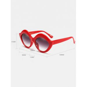 Street Snap Lip Shape Anti UV Sunglasses - BLUE