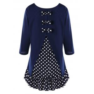 Plus Size Polka Dot Ruffle Tunic Dress
