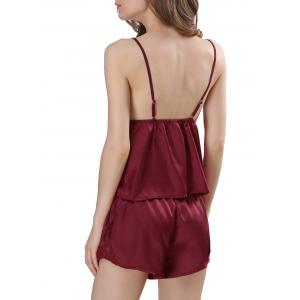Ensemble Satin Cami Pyjama - Rouge vineux  2XL