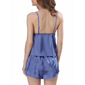 Ensemble Satin Cami Pyjama - Bleu 2XL