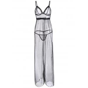 See Through Mesh Maxi Cami Dress
