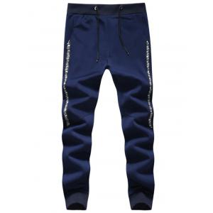 Retro Pattern Drawstring Jogger Pants
