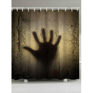 Halloween Gloomy Palm Print Waterproof Shower Curtain