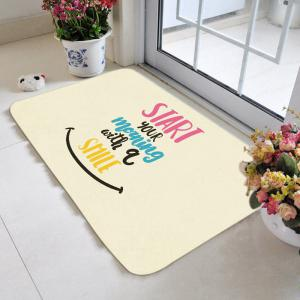 Smiling Pattern Morning Words Area Rug