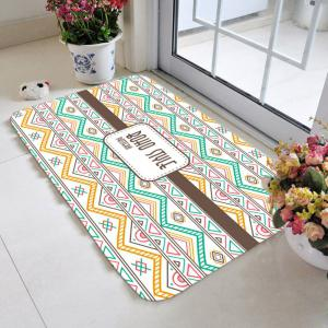 Bohemia Geometric Zigzag Pattern Antiskid Carpet