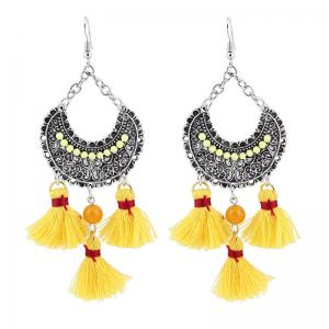 Tassel Chandelier Gypsy Hook Earrings