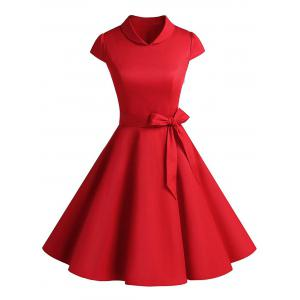 Vintage Belt Party Swing Pin Up Dress