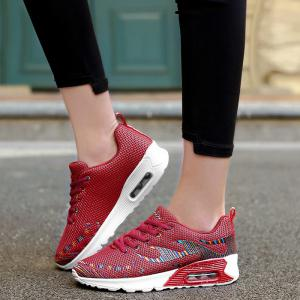 Air Cushion Embroidery Line Athletic Shoes - RED 39