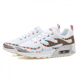 Air Cushion Embroidery Line Athletic Shoes - Blanc 37