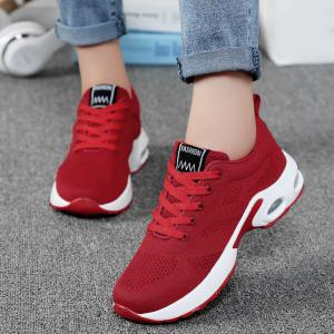 Breathable Air Cushion Mesh Athletic Shoes - RED 39