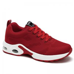 Breathable Air Cushion Mesh Athletic Shoes - Red - 38