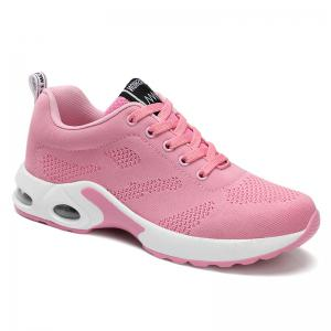 Breathable Air Cushion Mesh Athletic Shoes - Pink - 38