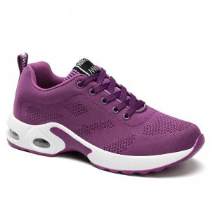 Breathable Air Cushion Mesh Athletic Shoes - Purple - 38