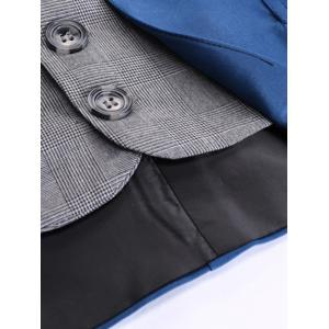 Single Breasted Two Tone Faux Twinset Waistcoat -
