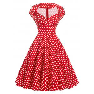 Vintage Polka Dot Swing Pin Up Dress