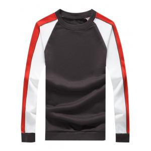 Color Block Crew Neck Raglan Sleeve Sweatshirt