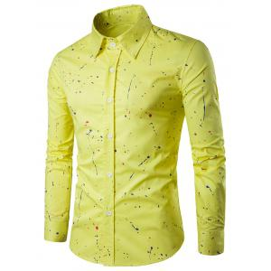 Long Sleeves Splatter Paint Shirt