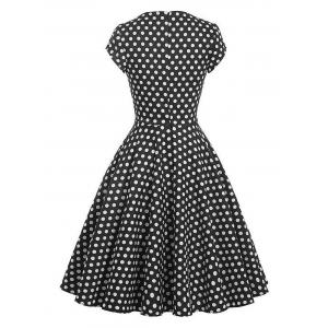 Vintage Polka Dot Swing Pin Up Dress -